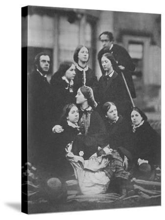 Group Portrait, C.1855-Otho Fitzgerald-Stretched Canvas Print