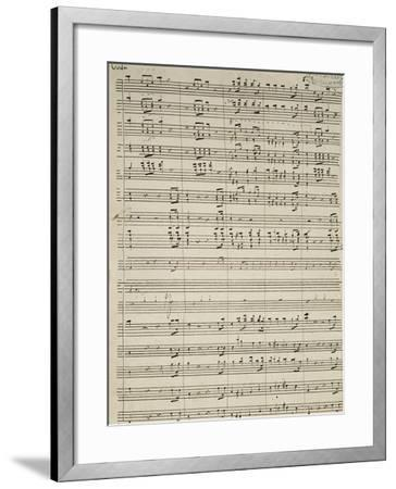 Autograph Sheet Music of Suite of La Marcia--Framed Giclee Print