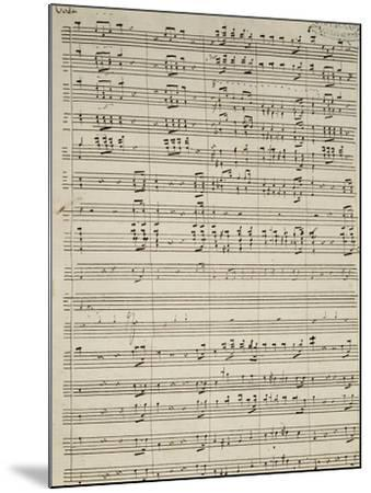 Autograph Sheet Music of Suite of La Marcia--Mounted Giclee Print