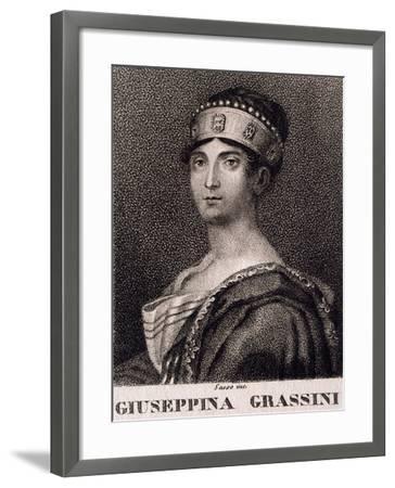 Portrait of Giuseppina Grassini--Framed Giclee Print