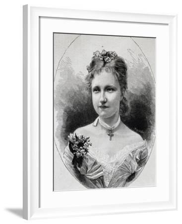 Portrait of Stephanie of Saxe-Coburg-Gotha--Framed Giclee Print