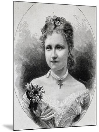 Portrait of Stephanie of Saxe-Coburg-Gotha--Mounted Giclee Print
