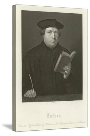 Martin Luther-Hans Holbein the Younger-Stretched Canvas Print