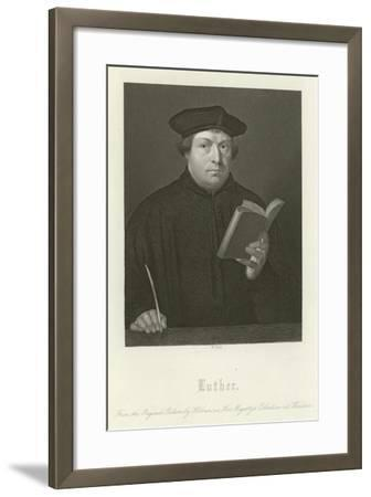 Martin Luther-Hans Holbein the Younger-Framed Giclee Print