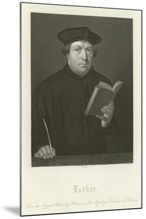 Martin Luther-Hans Holbein the Younger-Mounted Giclee Print