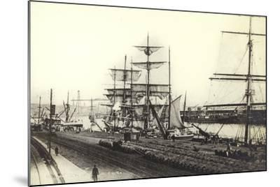 Nantes, Harbour--Mounted Photographic Print