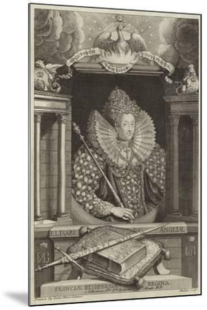 Portrait of Elizabeth I of England--Mounted Giclee Print
