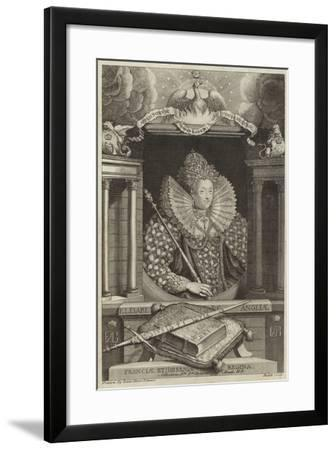 Portrait of Elizabeth I of England--Framed Giclee Print