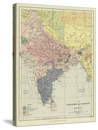 The Languages and Dialects of India--Stretched Canvas Print
