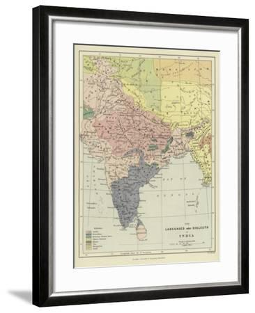 The Languages and Dialects of India--Framed Giclee Print