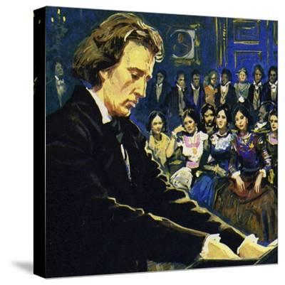 Chopin Played Mostly in the Salons of the Rich--Stretched Canvas Print