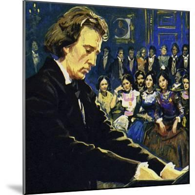 Chopin Played Mostly in the Salons of the Rich--Mounted Giclee Print