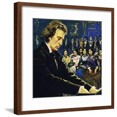 Chopin Played Mostly in the Salons of the Rich--Framed Giclee Print