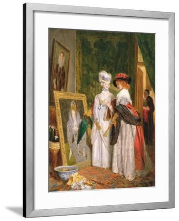 Critics on Costume, Fashions Change-John Callcott Horsley-Framed Giclee Print