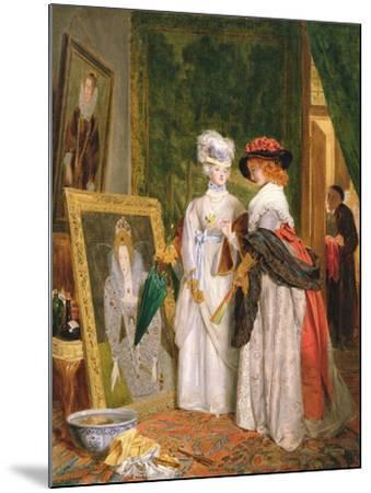 Critics on Costume, Fashions Change-John Callcott Horsley-Mounted Giclee Print