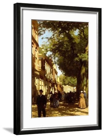 Midday on a Busy City Street, 1894-Willem Tholen-Framed Giclee Print