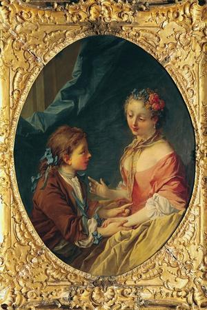 Mother and Child-Francois Boucher-Stretched Canvas Print
