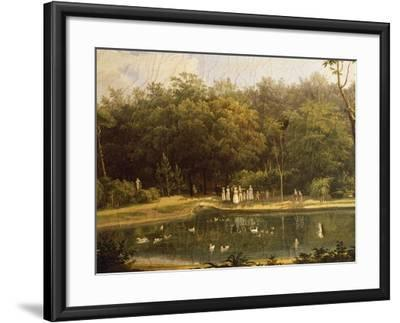 Fish-Pond in Real Bosco--Framed Giclee Print