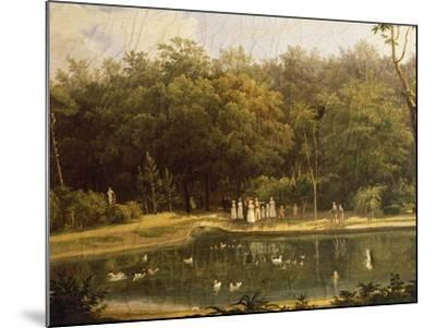 Fish-Pond in Real Bosco--Mounted Giclee Print