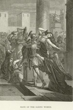 Rape of the Sabine Women--Stretched Canvas Print