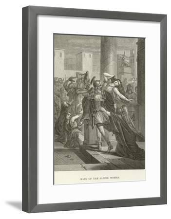 Rape of the Sabine Women--Framed Giclee Print