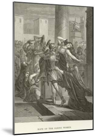 Rape of the Sabine Women--Mounted Giclee Print