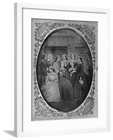 Group Portrait, C.1857-Augusta Crofton-Framed Giclee Print