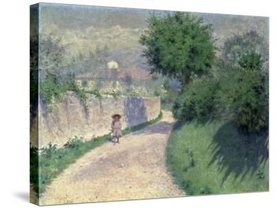 Settignano Laneway-Alfonso Testi-Stretched Canvas Print