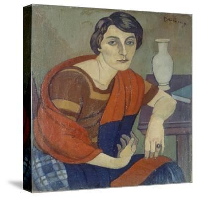 Portrait of Artist's Wife by Piero Marussig--Stretched Canvas Print