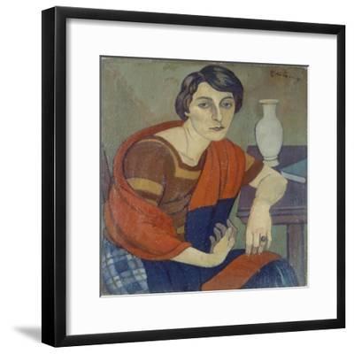 Portrait of Artist's Wife by Piero Marussig--Framed Giclee Print