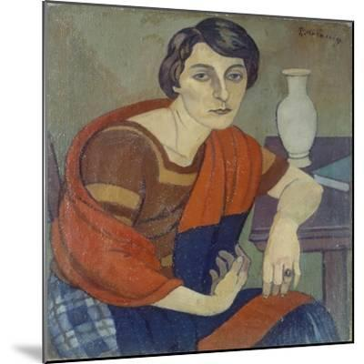 Portrait of Artist's Wife by Piero Marussig--Mounted Giclee Print