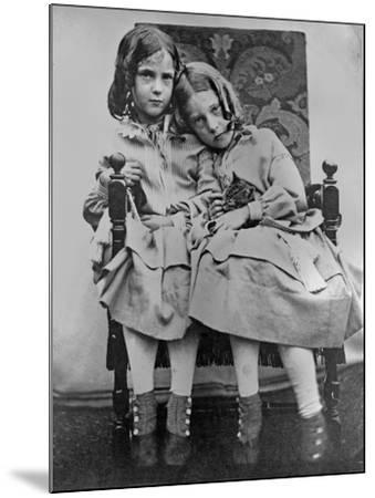 Portrait of Two Young Girls, C.1853-John Gregory Crace-Mounted Giclee Print
