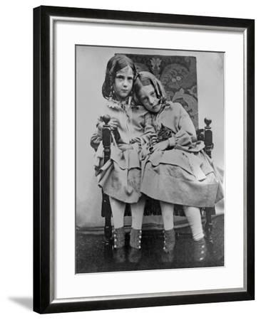 Portrait of Two Young Girls, C.1853-John Gregory Crace-Framed Giclee Print