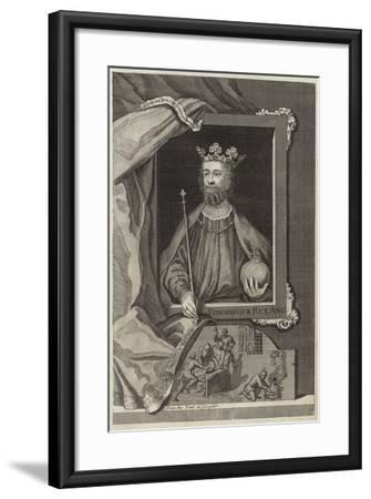 Portrait of Edward II of England--Framed Giclee Print