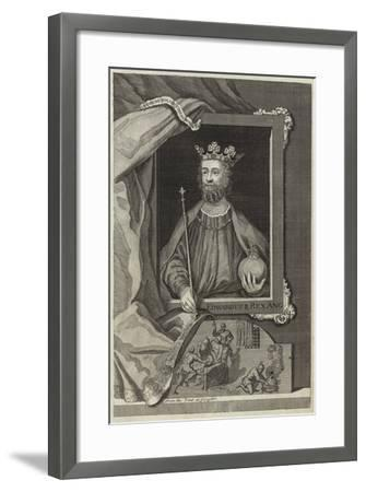 Portrait of Edward II of England--Framed Giclee Print