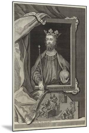 Portrait of Edward II of England--Mounted Giclee Print