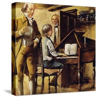 Schubert Was Born in Vienna in 1797--Stretched Canvas Print
