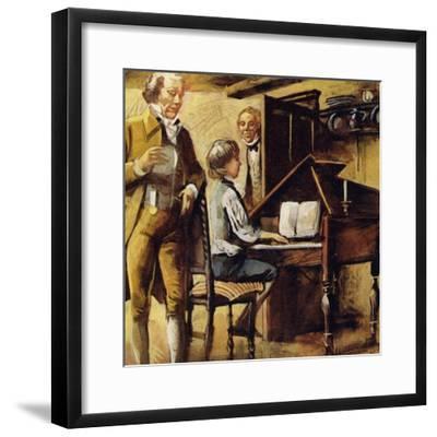 Schubert Was Born in Vienna in 1797--Framed Giclee Print