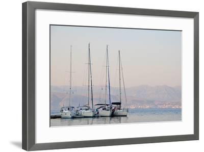 Kassiopi Harbour, Corfu, Greece--Framed Photographic Print