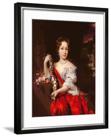 Portrait of a Young Lady-Nicholaes Maes-Framed Giclee Print