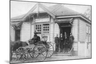 Waipu Post Office and Staff, 1916--Mounted Photographic Print