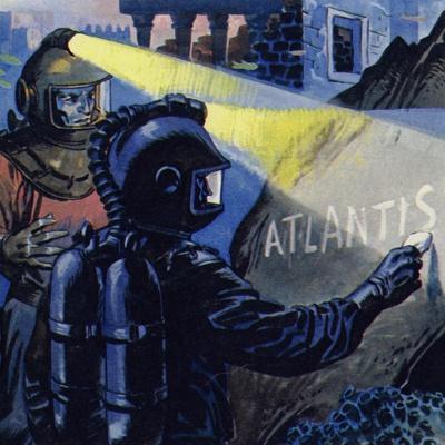 Nemo Wrote Atlantis in Chalk Stone--Framed Giclee Print