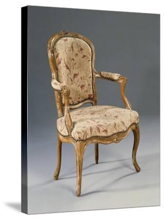 Louis XV Style Fauteuil--Stretched Canvas Print