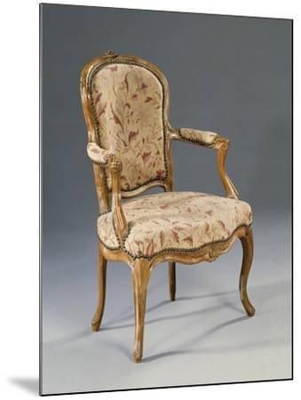 Louis XV Style Fauteuil--Mounted Giclee Print