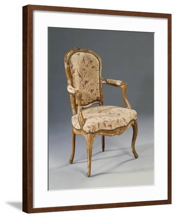 Louis XV Style Fauteuil--Framed Giclee Print
