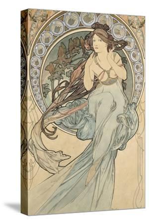 La Musique, 1898-Alphonse Mucha-Stretched Canvas Print