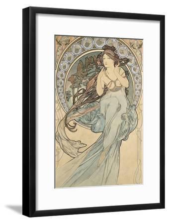 La Musique, 1898-Alphonse Mucha-Framed Giclee Print