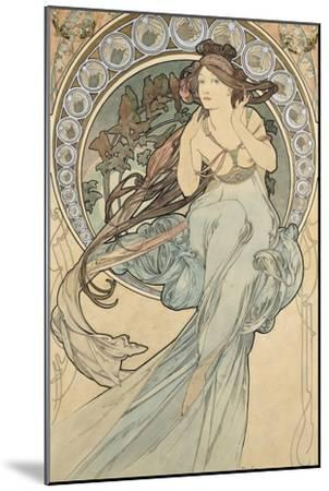 La Musique, 1898-Alphonse Mucha-Mounted Giclee Print