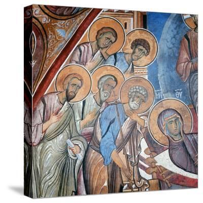 The Apostles Mourning the Virgin, 1192--Stretched Canvas Print