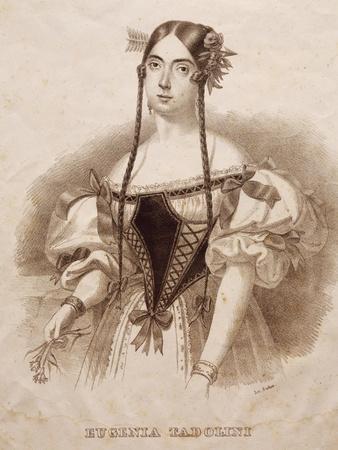 Portrait of Eugenia Savorani Tadolini--Framed Giclee Print
